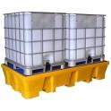 Bac de rétention avec caillebotis amovible finition PEHD 2 cubi 1000 l