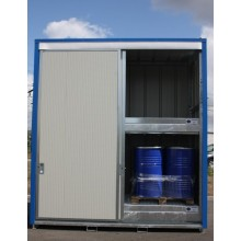 Armoire INTEGRAL 3 m sur 2 niveaux tôlée avec 2 portes coulissantes et fermeture