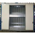 Armoire INTEGRAL 4 m sur 2 niveaux tôlée avec 4 portes coulissantes