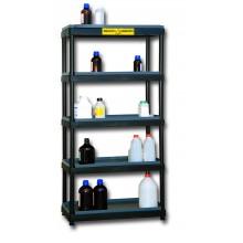 Rayonnage en PE pour corrosifs sur 5 niveaux