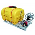 Cuve d'arrosage PE équipée sur plateau volume de 600 l à 2000 l pompe thermique