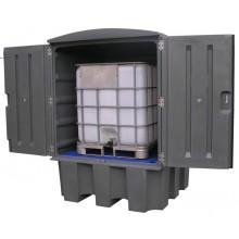 Cuve fermée finition PE pour 1 cubi de 1000 l avec toit fixe