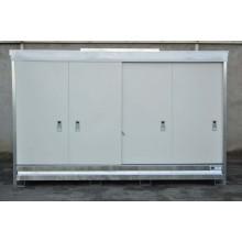 Armoire ECOPACK avec porte hauteur standard pour 3 cubi de 1000 l ou 12 fûts de 220 l