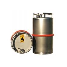 Fût de sécurité inox 25 litres