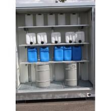 Rayonnage galvanisé monté pour charges légères : étagère Lg 1 m sur 1 à 4 niveaux