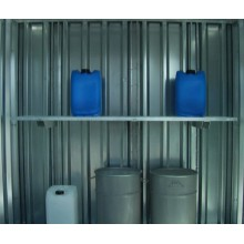 Rayonnage galvanisé monté pour charges légères : étagère Lg 1,75 m sur 1 à 4 niveaux