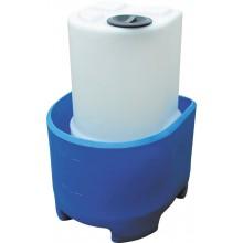 Cuve de dosage avec couvercle à visser et bac de rétention volume de 60 l à 250 l