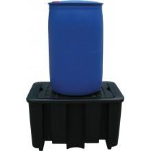 Bac de rétention avec caillebotis amovible finition PE recyclé 1 fût de 220 l