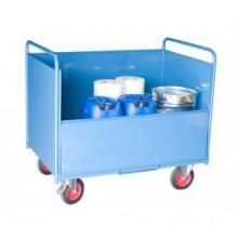 Chariot conteneur tôlé sans toit