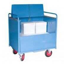 Chariot conteneur tôlé AVEC toit