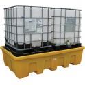 Bac de rétention PE emboîtable pour 2 cubi 1000 l