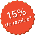 15 % de remise